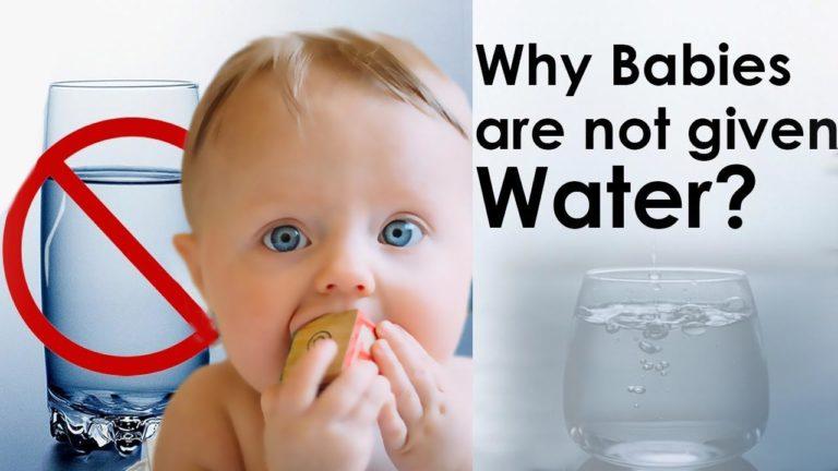 Quando dare l'acqua ai neonati?